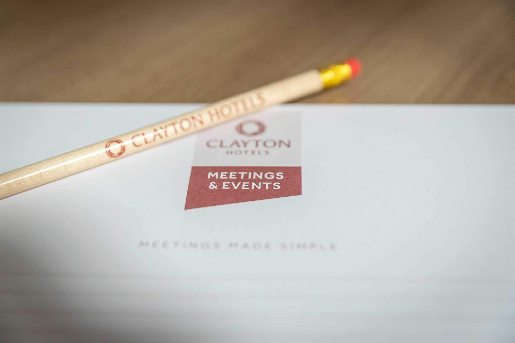 Clayton Hotels meeting delegate stationary