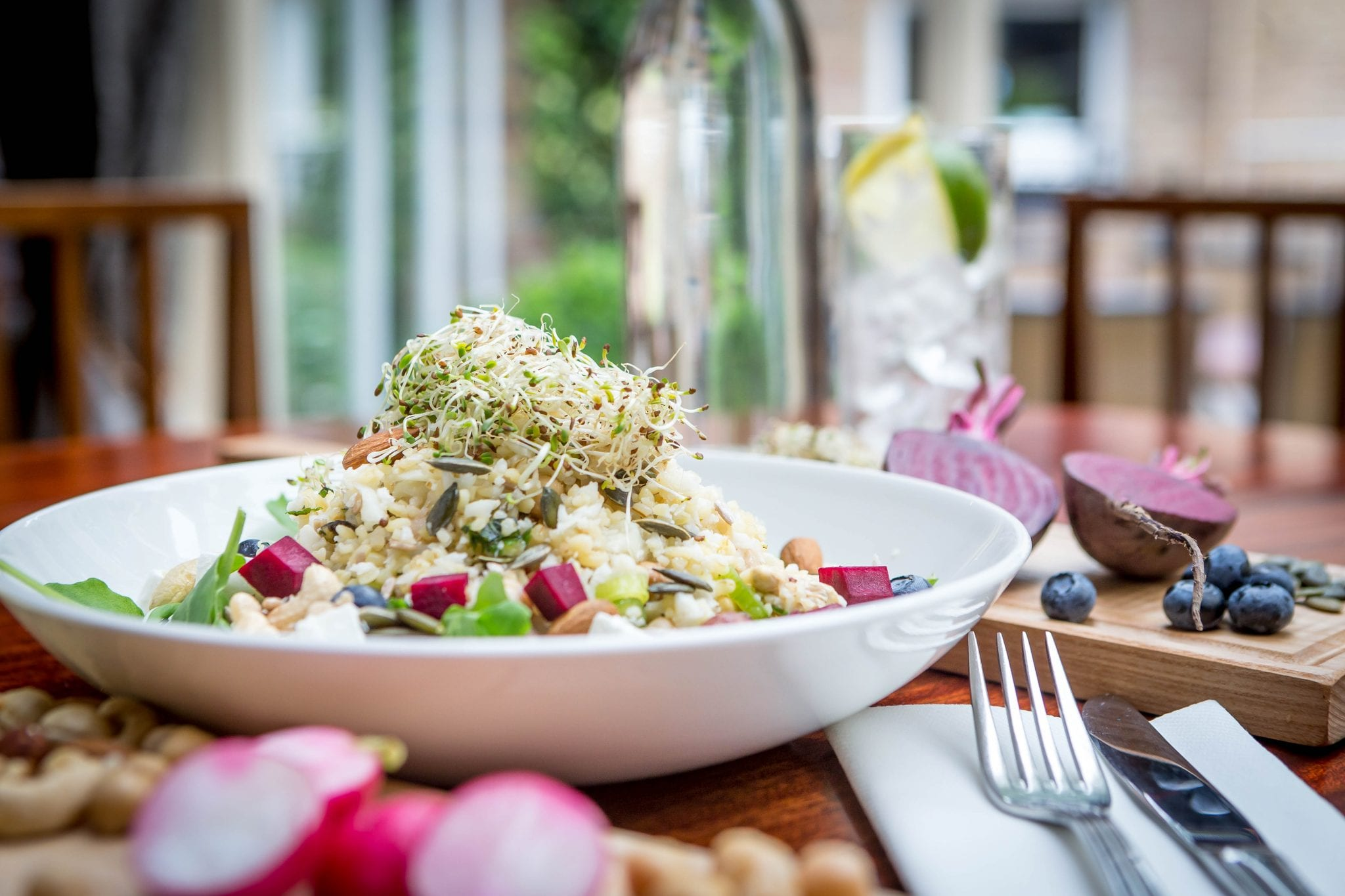 Superfood salad served at Grill Restaurant