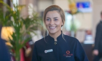 Smiling member of Clayton Hotel Manchester Airport team
