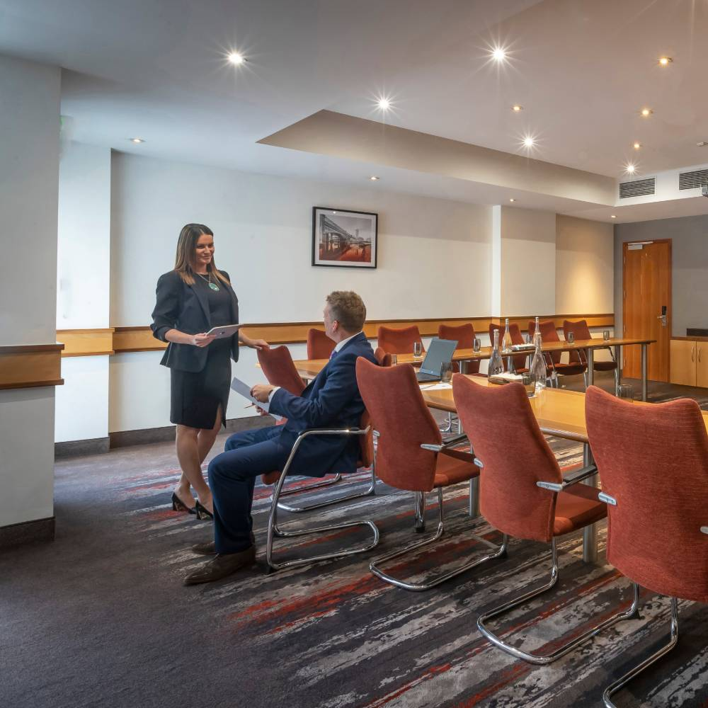 Meeting room U shaped at Clayton Hotel Manchester Airport